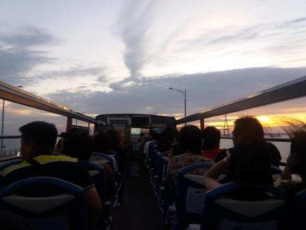 인천시티투어 2층 버스 야경투어 모습